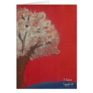 Under the Sakura Tree notecard