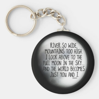 Under The Same Moon Poem Keychain