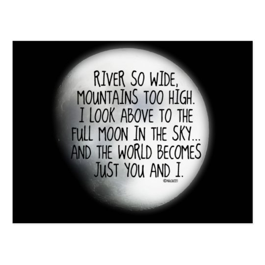 Under The Same Moon Poem Postcard