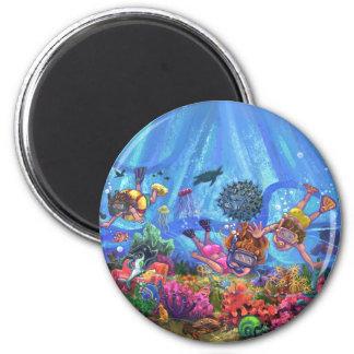 Under the Sea 2 Inch Round Magnet
