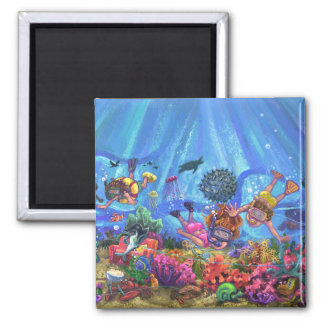 Under the Sea 2 Inch Square Magnet