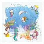 """Under the Sea 5.25"""" Square Invitation Card"""