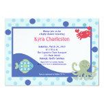 Under the Sea 5x7 Calypso Ocean Baby Shower 5x7 Paper Invitation Card