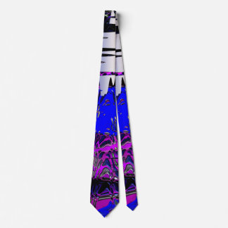 Under the Sea Abstract Tie