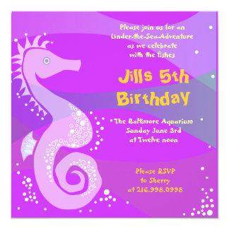 Under The Sea Aquarium Happy Birthday Party Girl Card