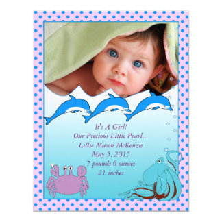 Under the Sea Baby Girl Announcement