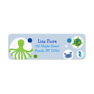 Under the Sea Baby Shower Address Labels