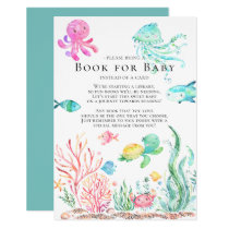 Under the Sea Baby Shower Book for Baby Card