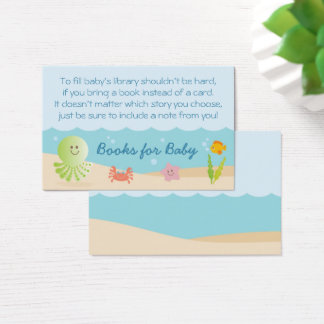 Under the Sea Baby Shower Book Request Card