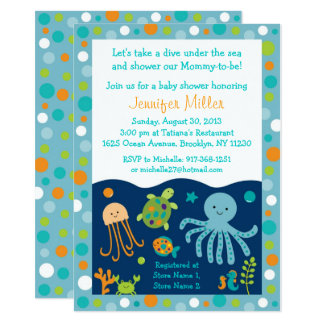 Under the Sea Baby Shower Card