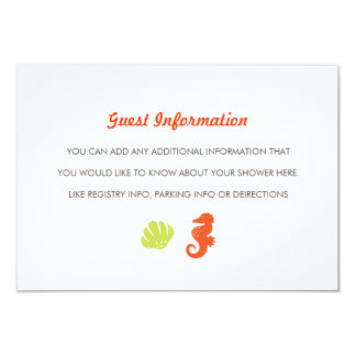 Under the Sea Baby Shower Insert 3.5x5 Paper Invitation Card