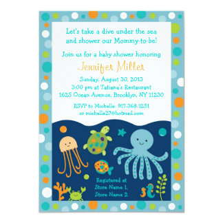 under the sea baby shower invitations announcements zazzle