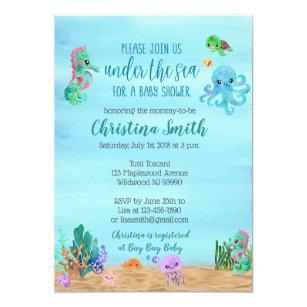 Under the sea baby shower invitations zazzle under the sea baby shower invitations filmwisefo