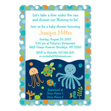 Toddler & Baby themed Under the Sea Baby Shower Invitations