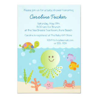 under the sea baby shower invitations & announcements | zazzle, Baby shower invitations