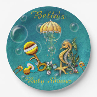 Under the Sea Baby Shower Paper Plates