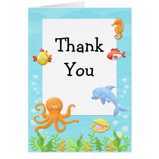 Under the Sea Baby Shower Thank You Card | Zazzle