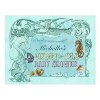 Under the Sea Baby Shower Thank You Postcard