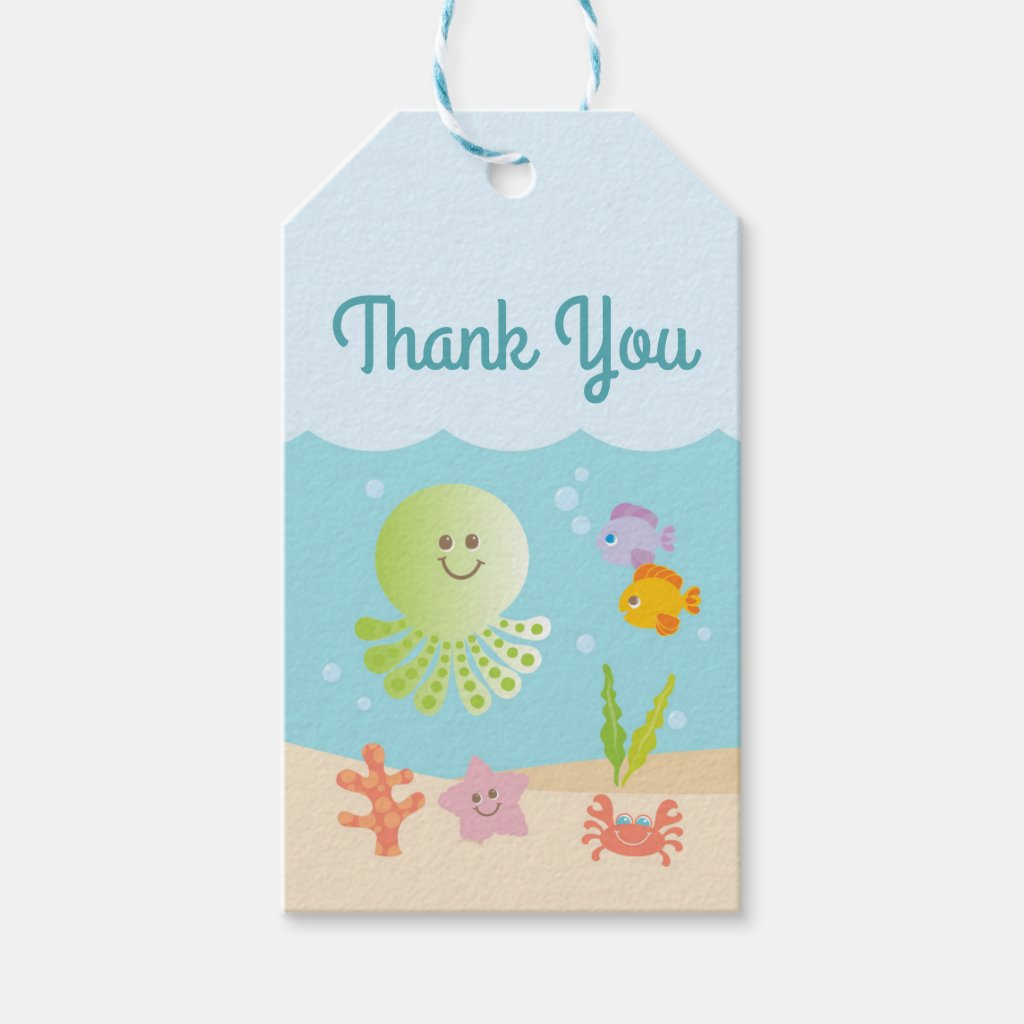 Under the Sea Baby Shower Thank You Tag
