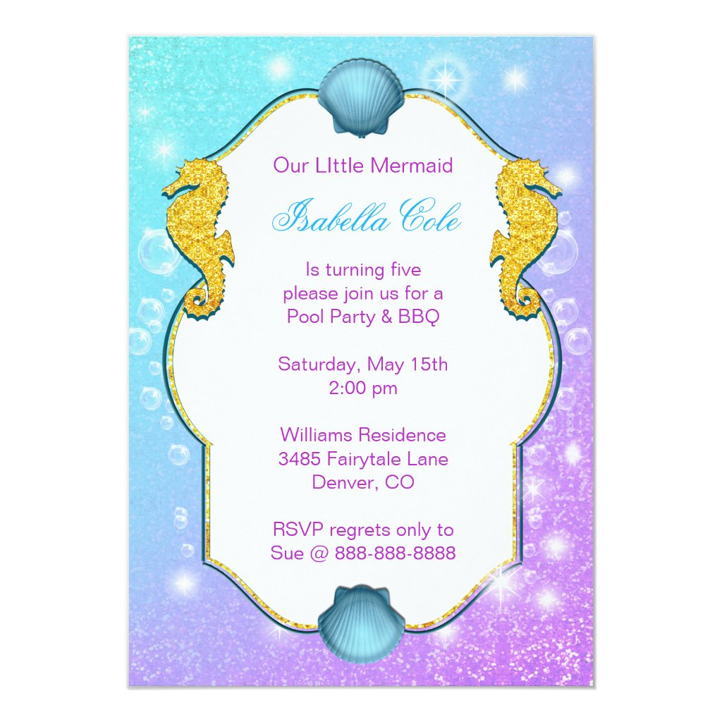 Under The Sea Beach Birthday Invitation