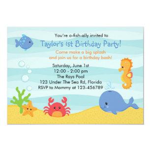 Under The Sea Birthday Invitation Boys
