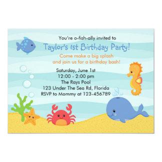 "Under The Sea Birthday Invitation (Boys) 5"" X 7"" Invitation Card"