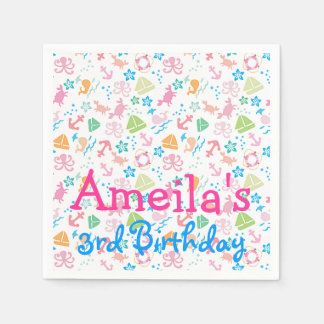 Under The Sea Birthday Paper Napkins