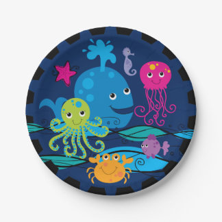 Under the Sea Birthday Paper Plates 7 Inch Paper Plate
