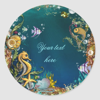 Under the Sea Birthday Party Classic Round Sticker