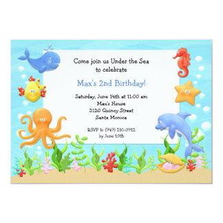 Dolphin Birthday Party Invitations Announcements Zazzle