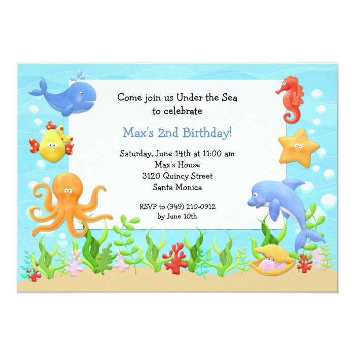 Under the Sea Birthday Party Invitation | Zazzle