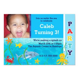 Under the Sea Birthday Party Kids Photo Invitation