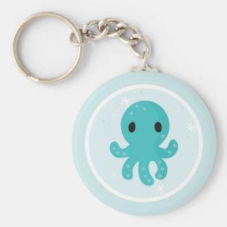 Under the Sea Birthday Party Octopus Keychain