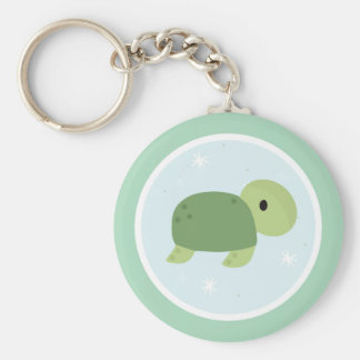 Under the Sea Birthday Party Turtle Keychain