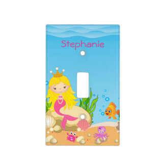 Under the Sea Blonde Mermaid Light Switch Cover