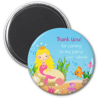Under the Sea Blonde Mermaid Thank You Magnet