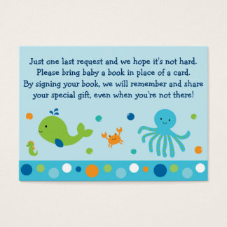 Under the Sea Book Request Cards