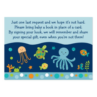 Under the Sea Book Request Cards Business Card Template