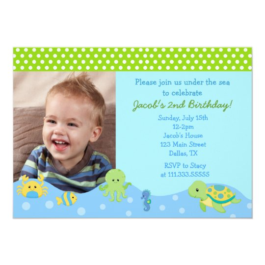 Under the Sea Boys Custom Birthday Invitations