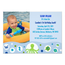 Under the Sea Boys Custom Birthday Invitations