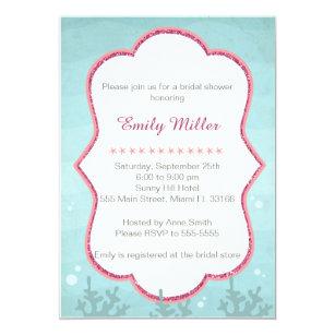 Under the sea bridal shower invitations zazzle under the sea bridal shower invitation filmwisefo