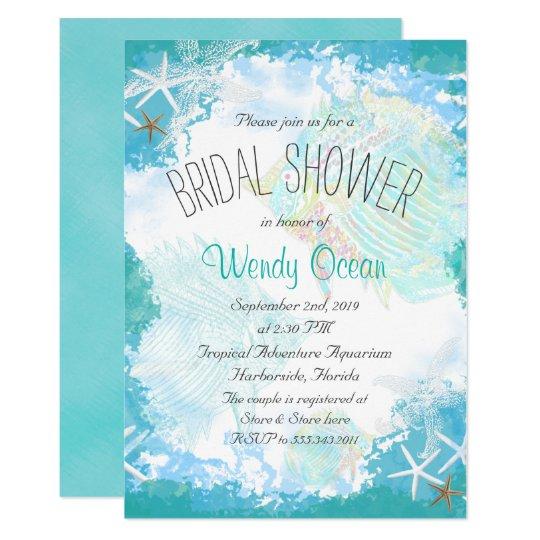 Under The Sea Bridal Shower Invitation