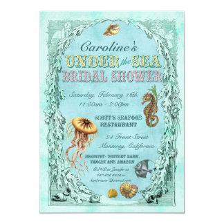 """Under the Sea Bridal Shower Invitation 5"""" X 7"""" Invitation Card"""