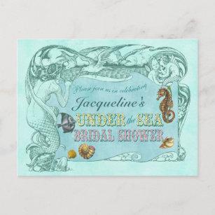 Under the sea bridal shower invitations zazzle under the sea bridal shower invitation postcard filmwisefo