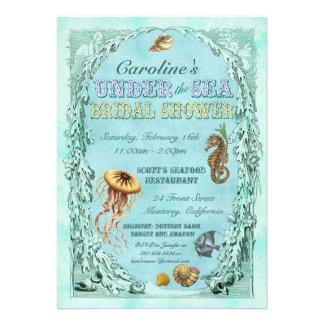 Under the Sea Bridal Shower Invitation - purple