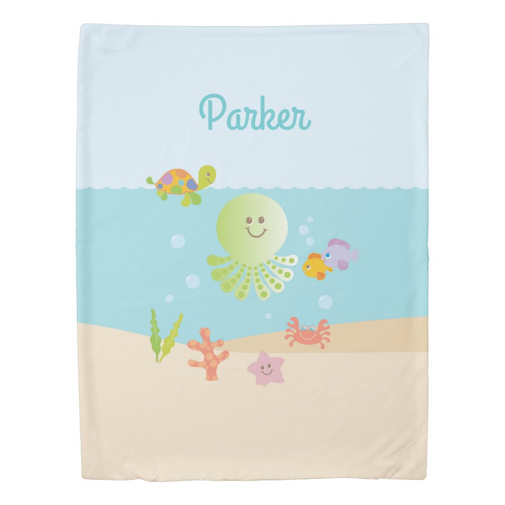 Under the Sea Child's Bedroom Decor Duvet Cover