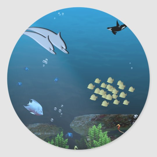 Under the Sea Classic Round Sticker