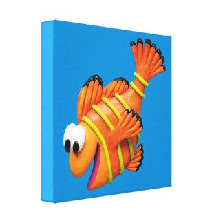 Under the Sea Clown Fish Baby Boy Shower Nursery Canvas Print
