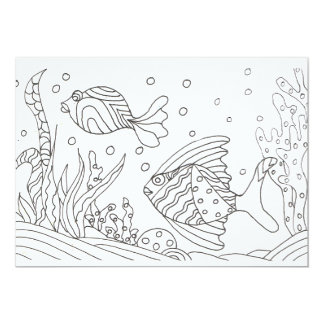 Under the Sea Coloring Card