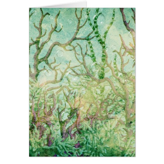 Under the Sea:  Coral Tropical Reef Card